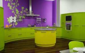 Цвет обоев для кухни (90 фото)