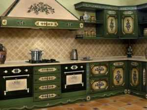 Синяя кухня (фото): какие обои выбрать