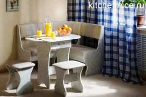 Кухонные уголки для маленькой кухни, фото, рекомендации по выбору.