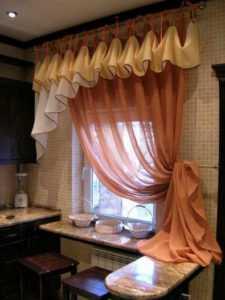 Шторы на кухню своими руками: выкройки и фото