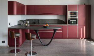 Бордовая кухня в интерьере: 92 фото с яркими идеями современного оформления