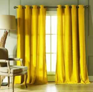 Какие шторы подойдут к желтым обоям - Всё о шторах и гардинах