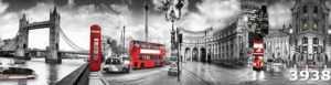 Купить недорого фартук для кухни из МДФ Прогулка по Лондону в компании Cozy House