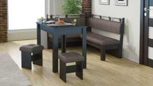 Кухонные скамьи: формы, материал, фото