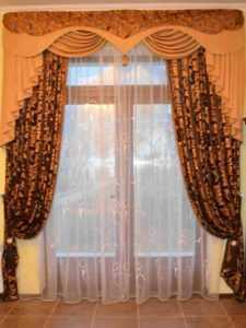 Ламбрекены для кухни, шторы и занавески с ламбрекеном (19 фото)