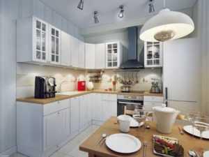 Дизайн кухни без окна - фото, оформление, планировка кухонь без окна