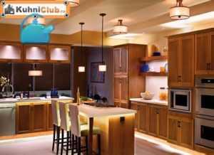 Подсветка рабочей зоны на кухне: светодиодное освещение и другие варианты