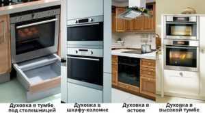 Как выбрать размер встраиваемого духового шкафа