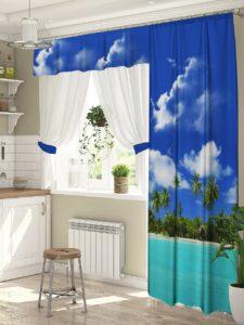 Шторы на кухню с балконной дверью. Выбор штор для кухни с балконной дверью: форма, стиль и цвет