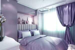 Сиреневые шторы в интерьере: выбор стиля дизайна