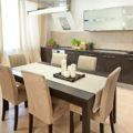 Обеденная зона на кухне, основные принципы оформления, как правильно выделить и обустроить - 36 фото