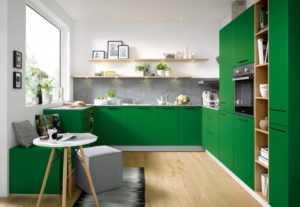 Кухня в зеленом цвете: фото, дизайнерские идеи, цветовые сочетания
