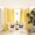 Желтые шторы на окне: 80  фото в интерьере, красивые идеи оформления
