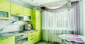 Зеленые шторы на кухню - Всё о шторах и гардинах