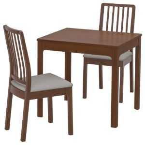 EKEDALEN ЭКЕДАЛЕН / EKEDALEN ЭКЕДАЛЕН Стол и 4 стула - белый/Рамна светло-серый - IKEA