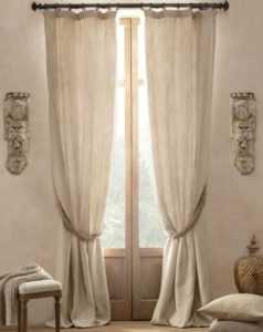 Льняные шторы в интерьере: фото идеи дизайна занавесок из льна на кухню