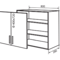 Глубина кухонных шкафов: угловых, напольных, навесных, как выбрать