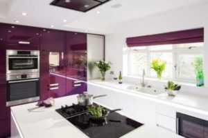Дизайн фиолетовой кухни: фото реальных интерьеров кухни