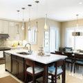 Точечные светильники на кухне – виды, размещение, установка (фото)