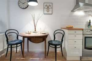 Полукруглый стол для кухни (33 фото): раскладной кухонный стол к стене для маленькой кухни