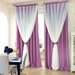 Фиолетовые шторы - 100 фото новинок дизайна. Правила идеального сочетания фиолетового цвета