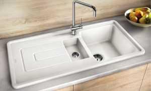 Белая мойка для кухни: эмалированная раковина, отзывы о моделях из искусственного камня