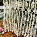 Вязаные шторы крючком, схемы вязания занавесок крючком для кухни (8 фото)