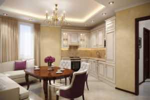 Освещение на кухне с натяжным потолком: 50  фото удачных примеров