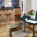 Габариты кухонных столов: стандартная высота обеденного стола на кухне. Какими должны быть размеры раскладных столов?