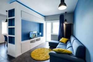 Шторы в синий интерьер: 50  примеров воплощения - Арт Интерьер