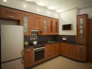 Угловой кухонный шкаф, виды с размерами и чертежи разных моделей