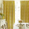 Желтые шторы - 120 фото лучших идей дизайна и сочетания в интерьере