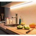 Подсветка рабочей зоны на кухне за 5 шагов - ошибки и правила монтажа светодиодной лентой.