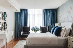 Синие шторы в интерьере: 130 фото новинок дизайна штор синего цвета